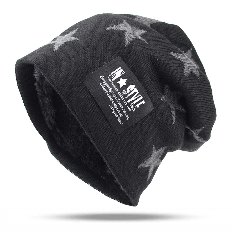 2018 Men Hat Five Stars Casual Brand Knitted Ladies Hats Beanies Stocking Cap Skullies Beanies Bonnet Femme