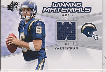 Amazon.com: 2006 SPx Charlie Whitehurst Chargers Rookie Jersey ...