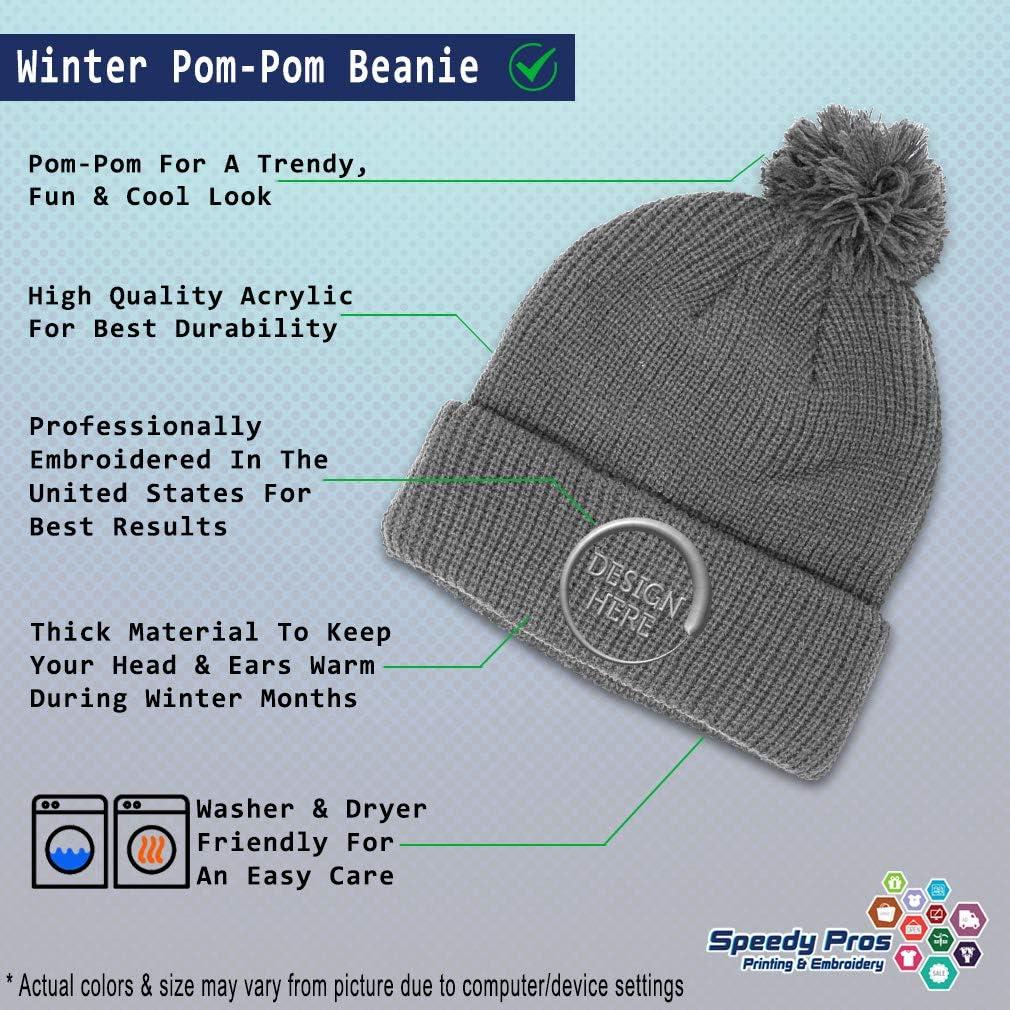 Winter Pom Pom Beanie Men /& Women Soccer Abuela Spanish Gray Embroidery 1 Size