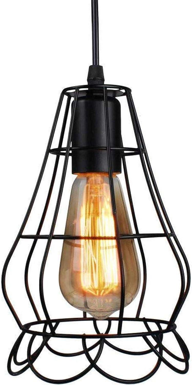 Lámpara colgante Nordic Vintage Florero de hierro forjado Lámpara colgante E27 Bombillas para sala de estar Dormitorio Lámpara de mesa de comedor