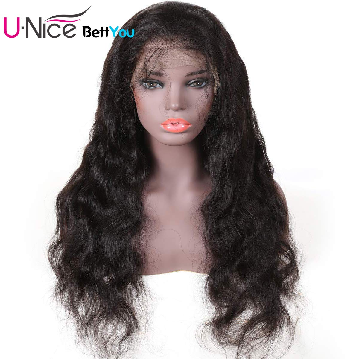 Amazon.com : UNice Hair Bettyou Series Body Wave Lace Front Human Hair Wigs for Women Virgin Brazilian Human Hair Wigs with Baby Hair Natural Black Full End ...