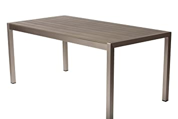 Pangea Home LENNY DT GRAY Lenny Dining Table, Gray, 71u0026quot;