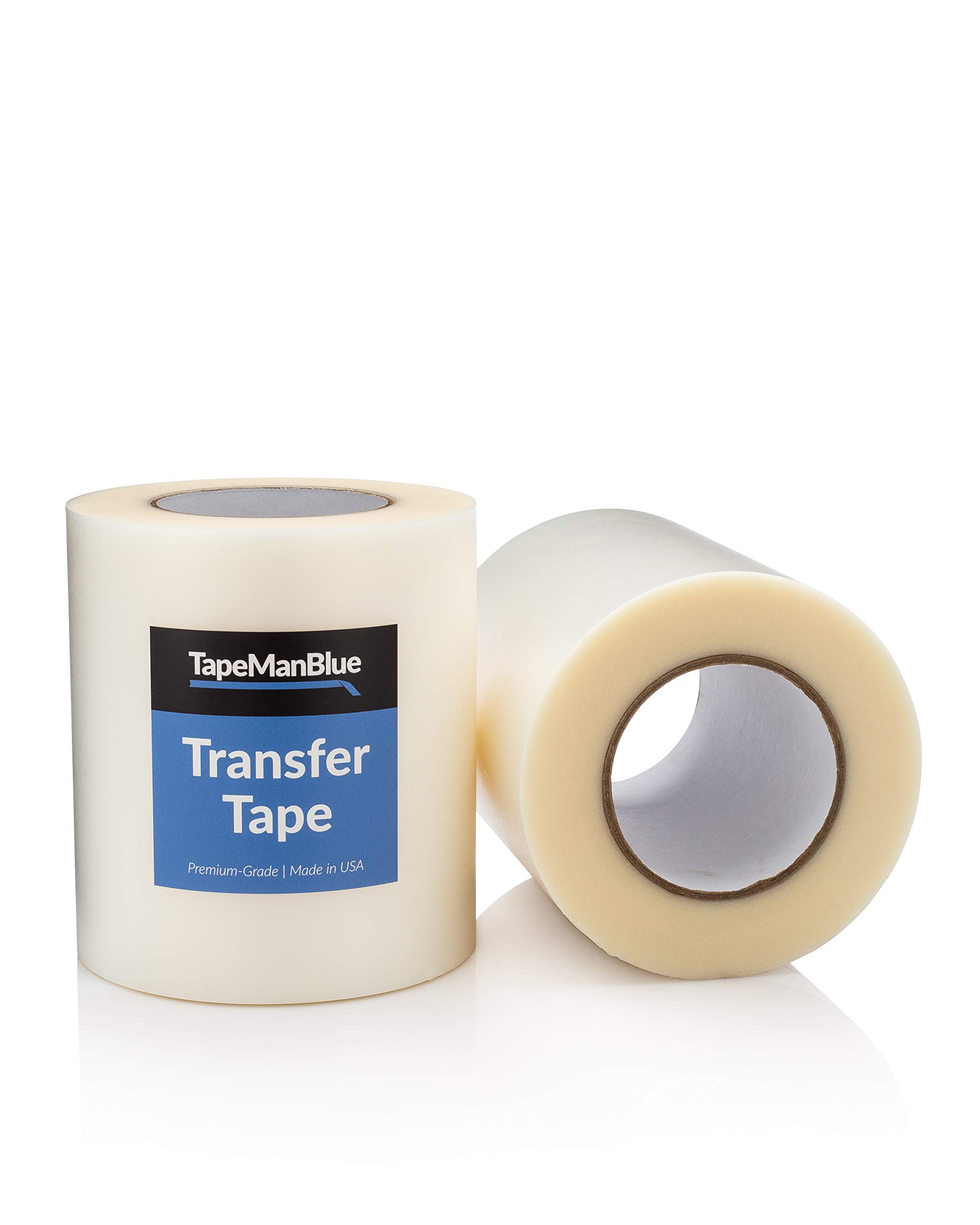Vinyl Transfer Tape, 6 inch x 300 feet, Clear High Tack Film for Craft Die Cutters by TapeManBlue