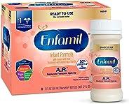 Enfamil A.R. Ready to Feed Spit Up Baby Formula Milk, 2 fluid ounce Nursette (6 count) - Omega 3 DHA, Probiotics, Immune & Br