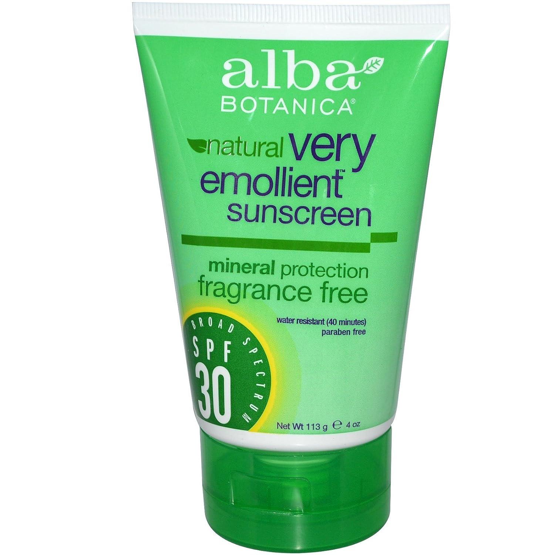 Alba Botanica, Natural, Very Emollient Sunscreen, Fragrance Free, SPF 30, 4 oz (113 g) - 2pc