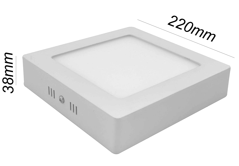 Plaf/ón LED Cuadrado 20W 6000K Blanca Fria Superficie