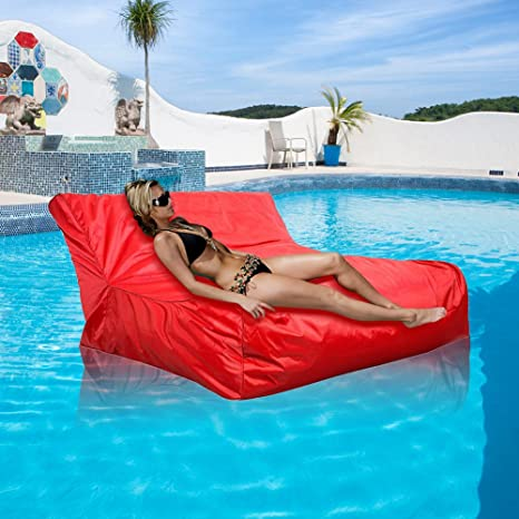 Pleasing Amazon Com Floating Bean Bag Cover Waterproof Swimming Pool Caraccident5 Cool Chair Designs And Ideas Caraccident5Info