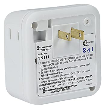 intermatic tn111k 15 amp lamp and appliance timer amazon com