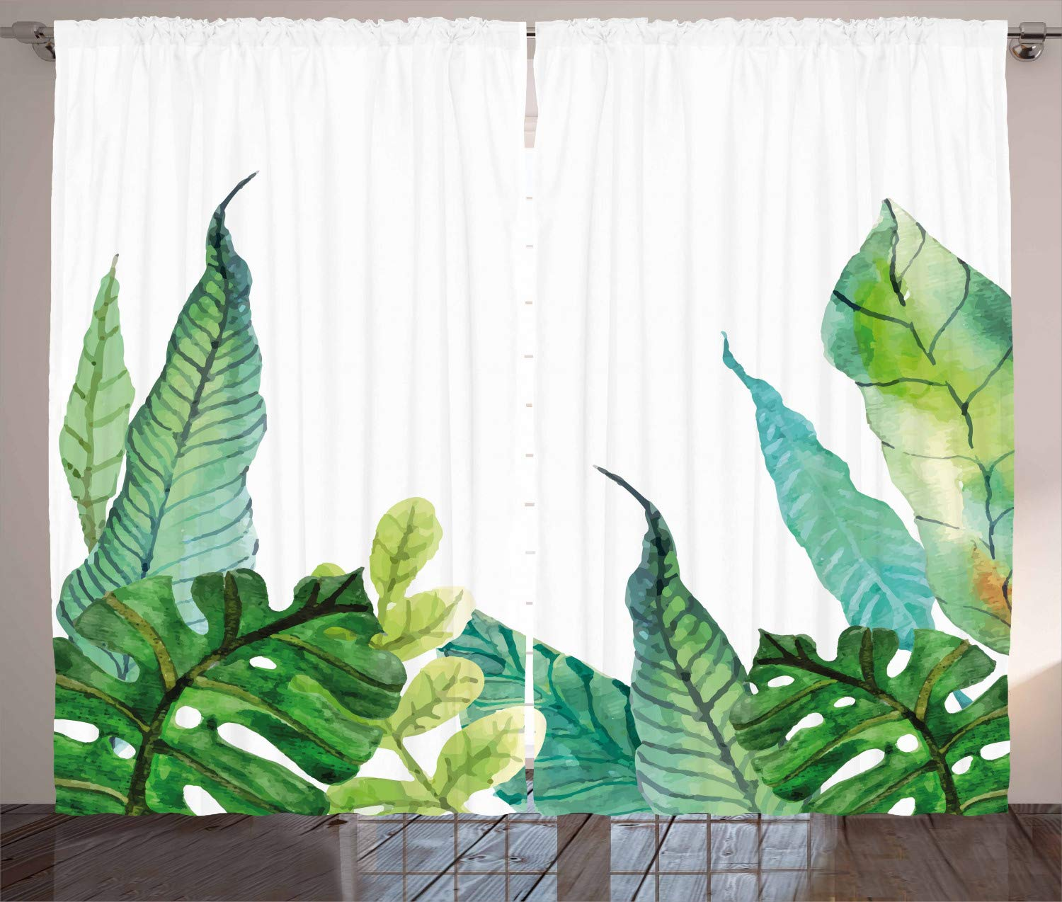Surreal Morning Fog in Mist Forest Mountain Valley Habitat Themed Himalayan Print 108W X 84L Inches Living Room Bedroom Window Drapes 2 Panel Set Ambesonne Nature Decor Curtains by Blue p/_26233/_108x84