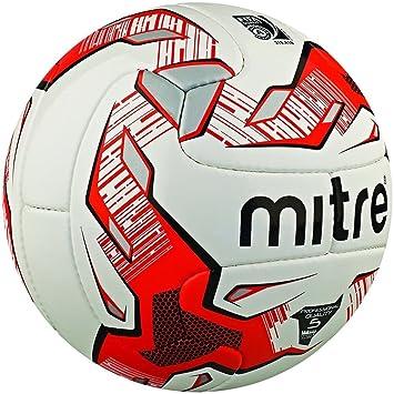 Mitre Max 26P - Balón de fútbol profesional, color blanco/rojo ...