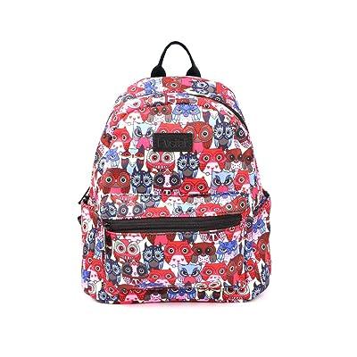 "Fvstar 11"" Owl Girls Mini Backpack Purse Canvas Casual Lady Backpack Women Travel Daypack Kids School Satchel Teens College Knapsack | Kids' Backpacks"