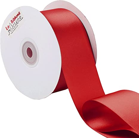 Model Worker 2 Wide Red Solid Satin Ribbon 25 Yards