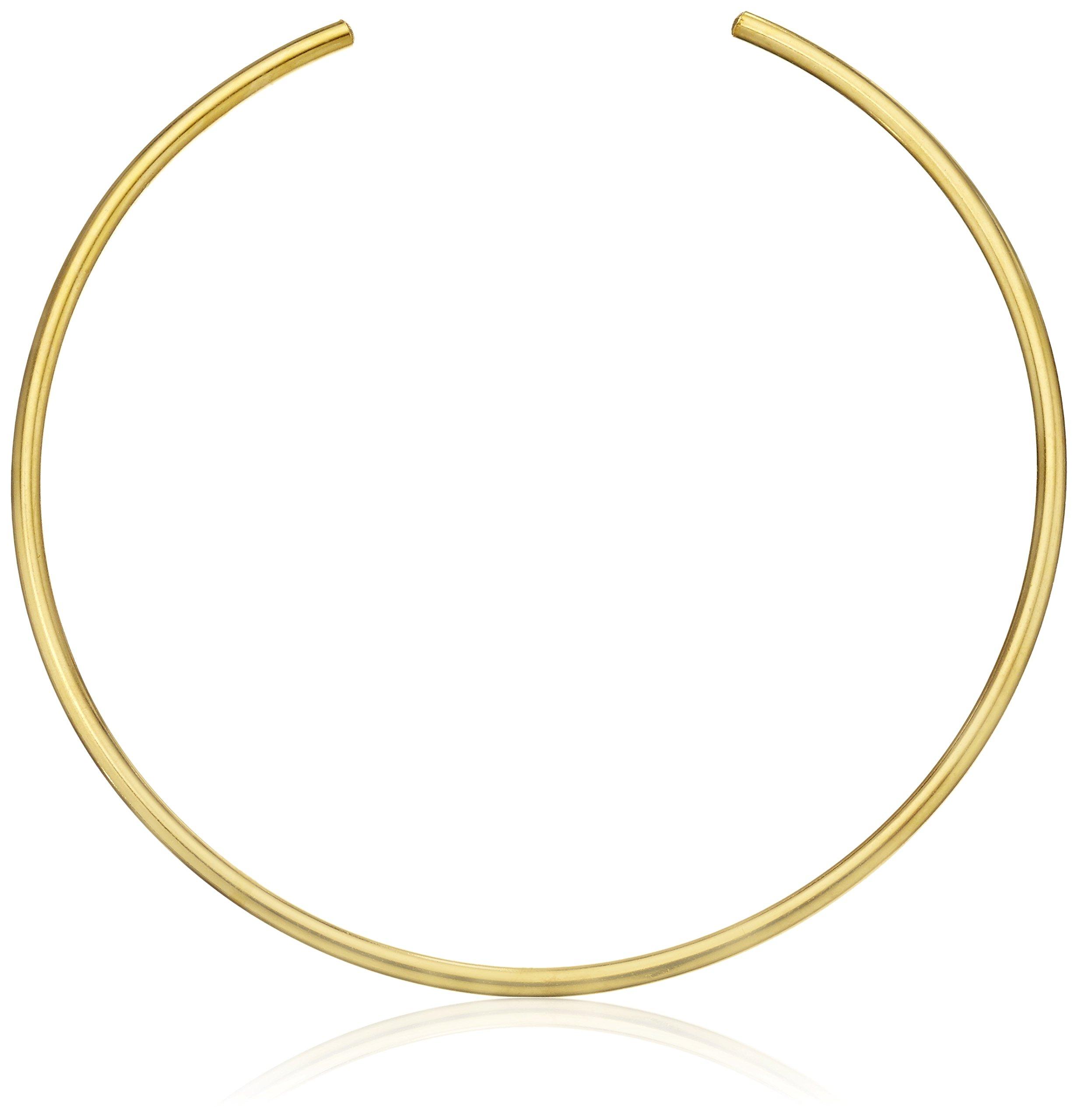 Jules Smith ''Americana'' 14k Yellow Gold-Plated Choker Necklace