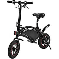 Lantusi Folding Electric Bicycle,350W 36V Electric Bike with 12 Mile Range Collapsible Frame and Handlebar Display APP Speed Setting[US Stock]