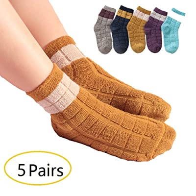 5 Pack Boys Super Soft Thick Warm Winter Socks by Elfjoy