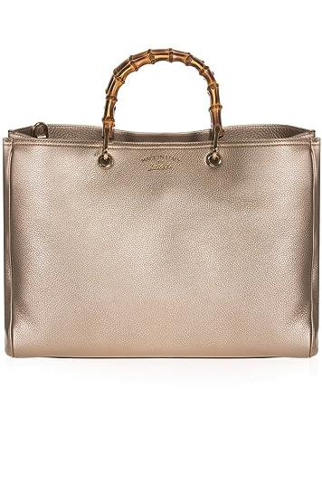 18e4f35ce71a Amazon.com  Gucci Original Canvas and Leather Metallic Golden Beige Hobo Shoulder  Bag 388921  Shoes