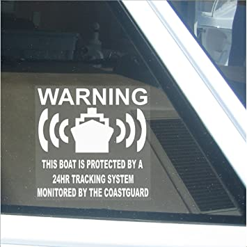 X Boat Gps Tracker Device Alarm Stickers Security Window Warning Signs For Vessels