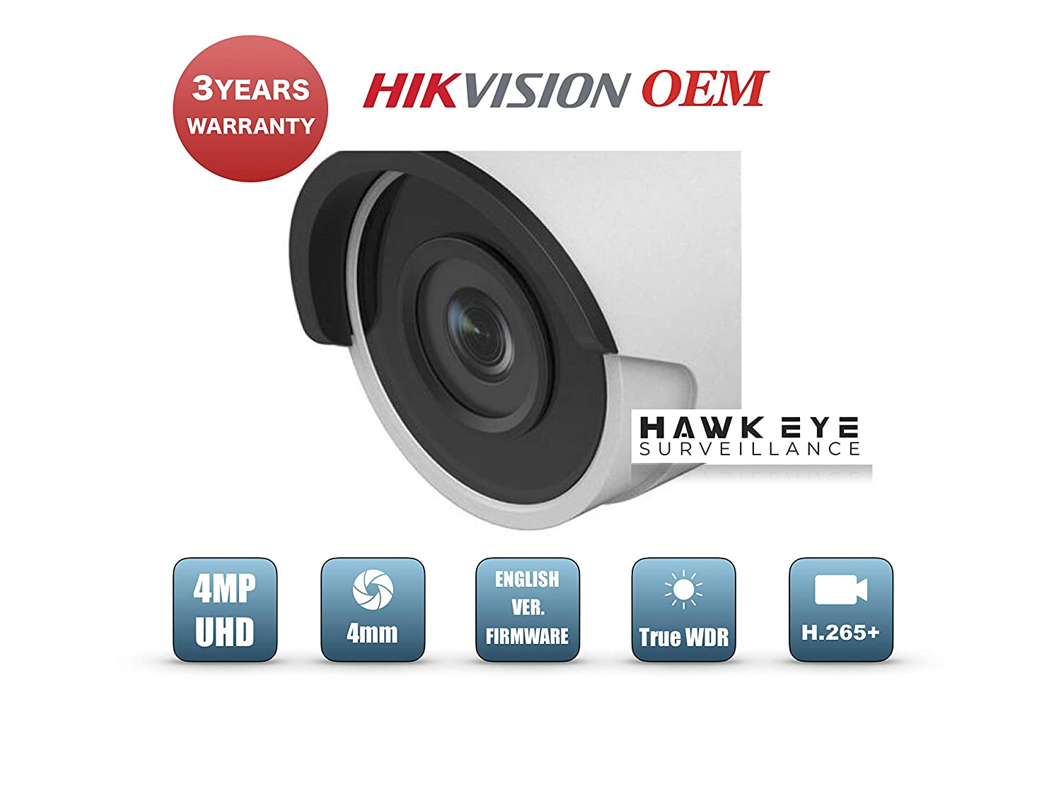 Amazon.com: 4MP PoE Security IP Camera - Compatible with ...