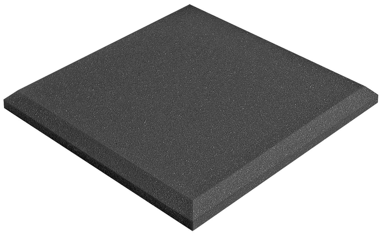 Auralex Acoustics SonoFlat Acoustic Absorption Foam, 2'' x 12'' x 12'', 14-Panels, Charcoal, 1x1 (SFLAT1114CHA)