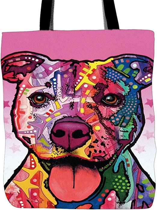 Personalised American Pit Bull Terrier Dog Puppy Tote Shopping Grocery Bag Gift
