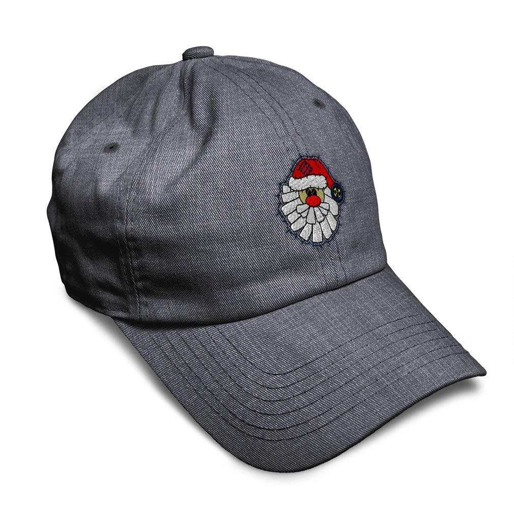 Custom Soft Baseball Cap Christmas Santa Claus Embroidery Twill Cotton
