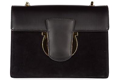 Shoulder Bag for Women, Thalia, Black, Leather, 2017, one size Salvatore Ferragamo