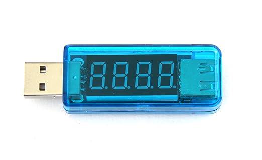AboveTEK reg; USB medidor de voltaje, pantalla LED 2,0/3,0 ...