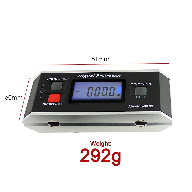 Portable 360 Degree Magnetic Digital Level Inclinometer Protractor Measurement T