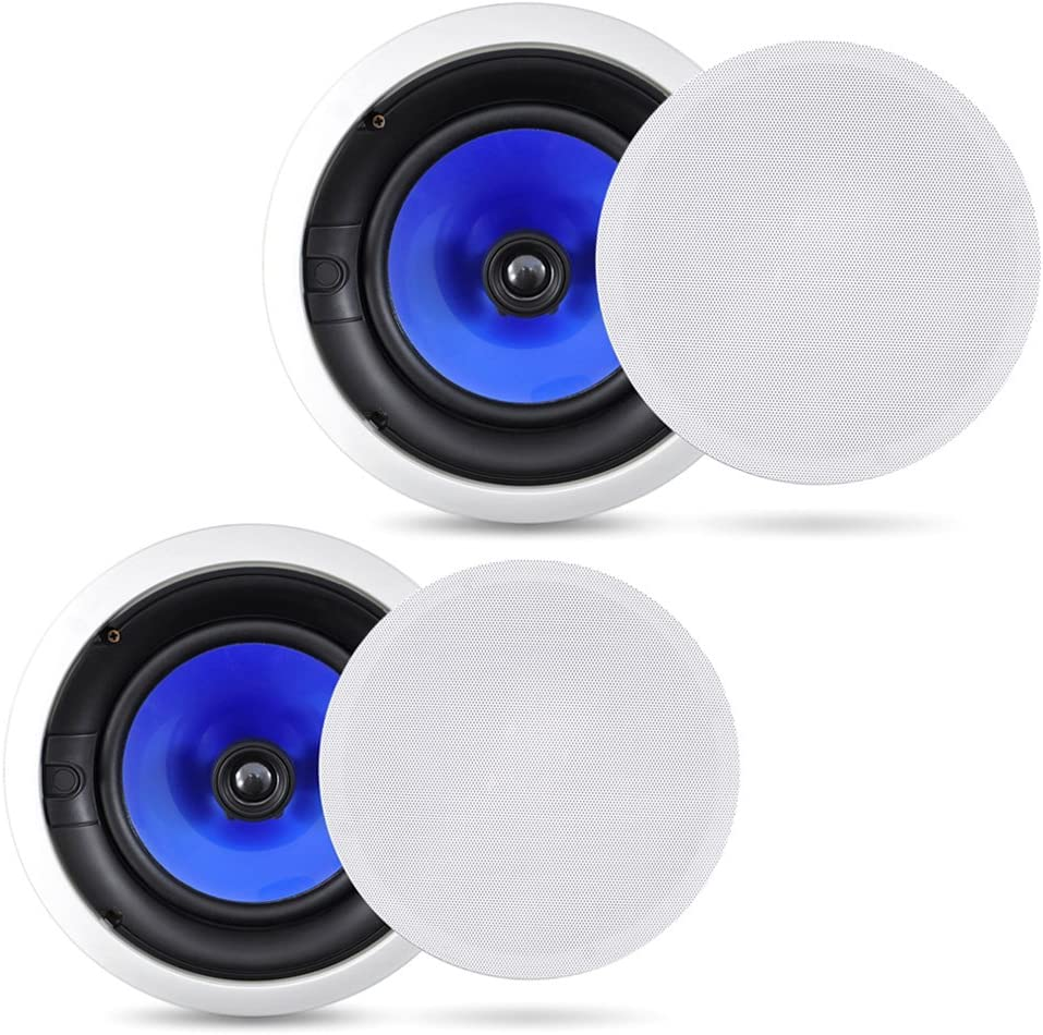 "Pyle Dual 6.5/"" 300W In-Wall In-Ceiling Bluetooth SpeakersWireless Streaming"