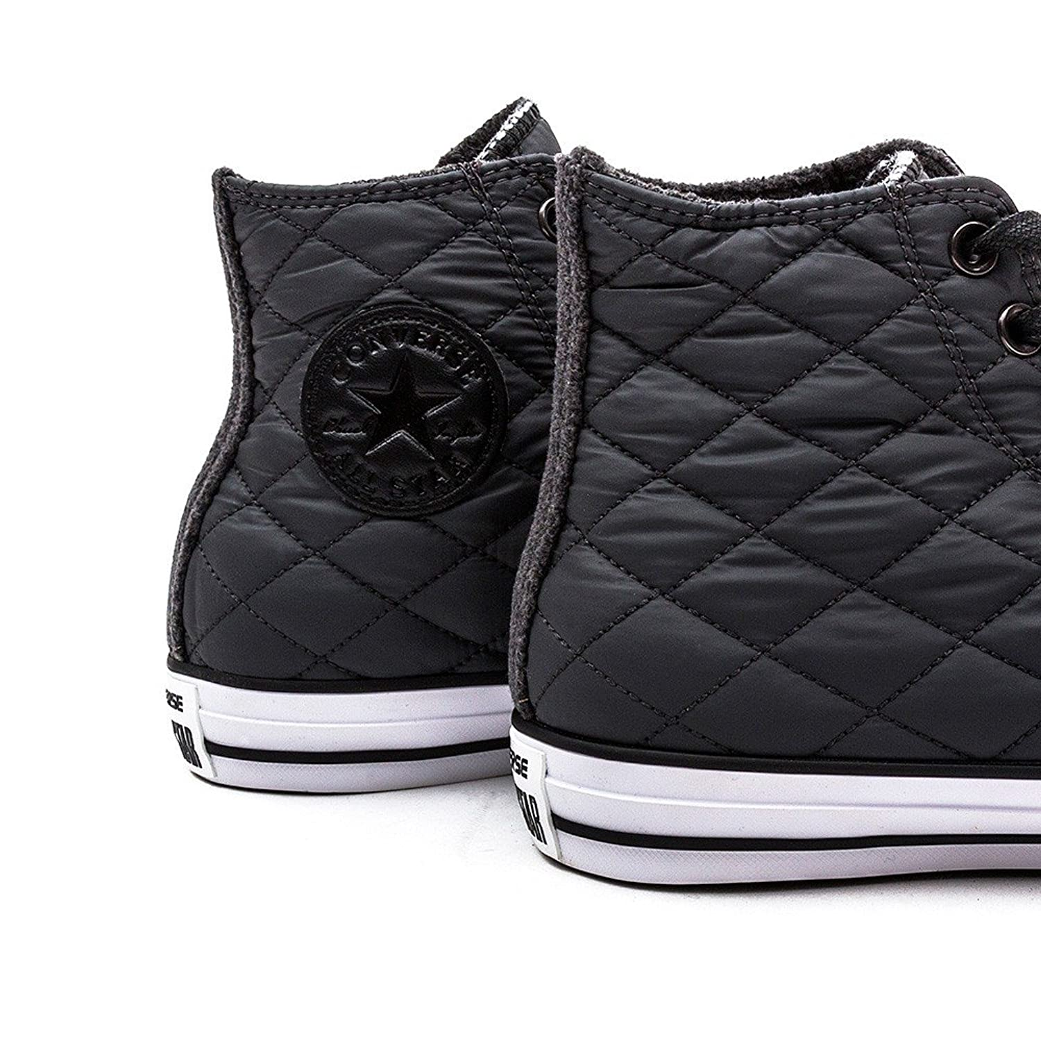 unisex normal converse casual product ox lyst line from white quilt shoes whiteblackwhite taylor gallery quilted chuck nylon finish sneakers
