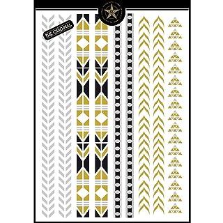 The Glam Tattoo Company–Tatuaggi Temporanei Metallici, colore: oro, comunicazione grafica 2016GT43 comunicazione grafica 2016GT43 Comunicación Grafica 2016GT43