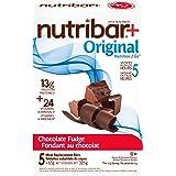 Nutribar Original Nutribar+ Original Meal Replacement Bars, Chocolate Fudge, 5 Bars 5 count