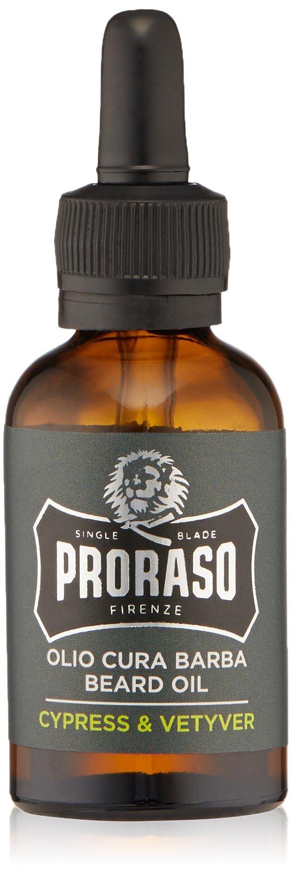 Proraso Beard Oil, Cypress and Vetyver, 1.0 fl oz