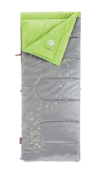Coleman Kids Glow - Saco de Dormir para niños - Gris/Verde 2016: Amazon.es: Deportes y aire libre