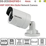 Hikvision IP Camera 4MP DS-2CD2042WD-I 4mm IR Bullet Network Mini Camera ONVIF H.264 English Version Support Upgrade