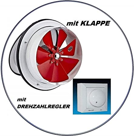 250mm Ventilador industrial con 300W Regulador de Velocidat ...
