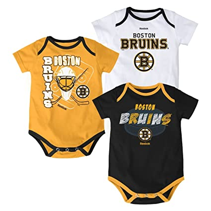de0c88e4c NHL Boston Bruins Baby   Infant  quot 3 Point Spread quot  3 Piece Bodysuit  Set
