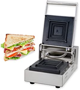 YOOYIST Commercial Electric Square Deep Fill Toastie Maker, Sandwich Toaster, Jaffle Toatess Sandwich Grill, Sandwich Heating Presses Stainless Steel 800W 110V