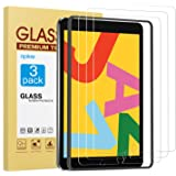 apiker [3 Pack] Screen Protector for iPad 7 (10.2-Inch, 2019 Model, 7th Generation), Tempered Glass Screen Protector Compatible with Apple Pencil