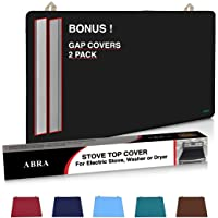 Abra Stove Top Cover for Electric Stove, Washer and Dryer   Thick Natural Rubber   Glass Top Protector   Prevents…