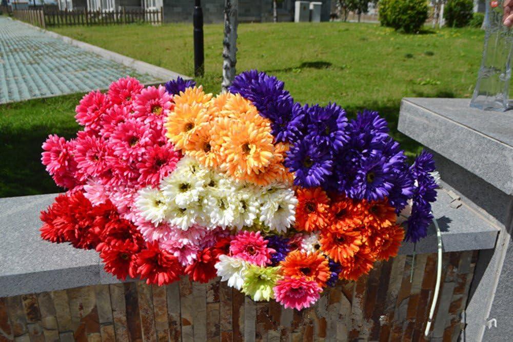 Gelb K/ünstliche Blumen Venkaite 10 pcs PU K/ünstlicher Gerbera G/änsebl/ümchen Blumenstrau/ß Braut Hochzeit Bouquet f/ür Hochzeitsfeier Zuhause B/üro Dekoration