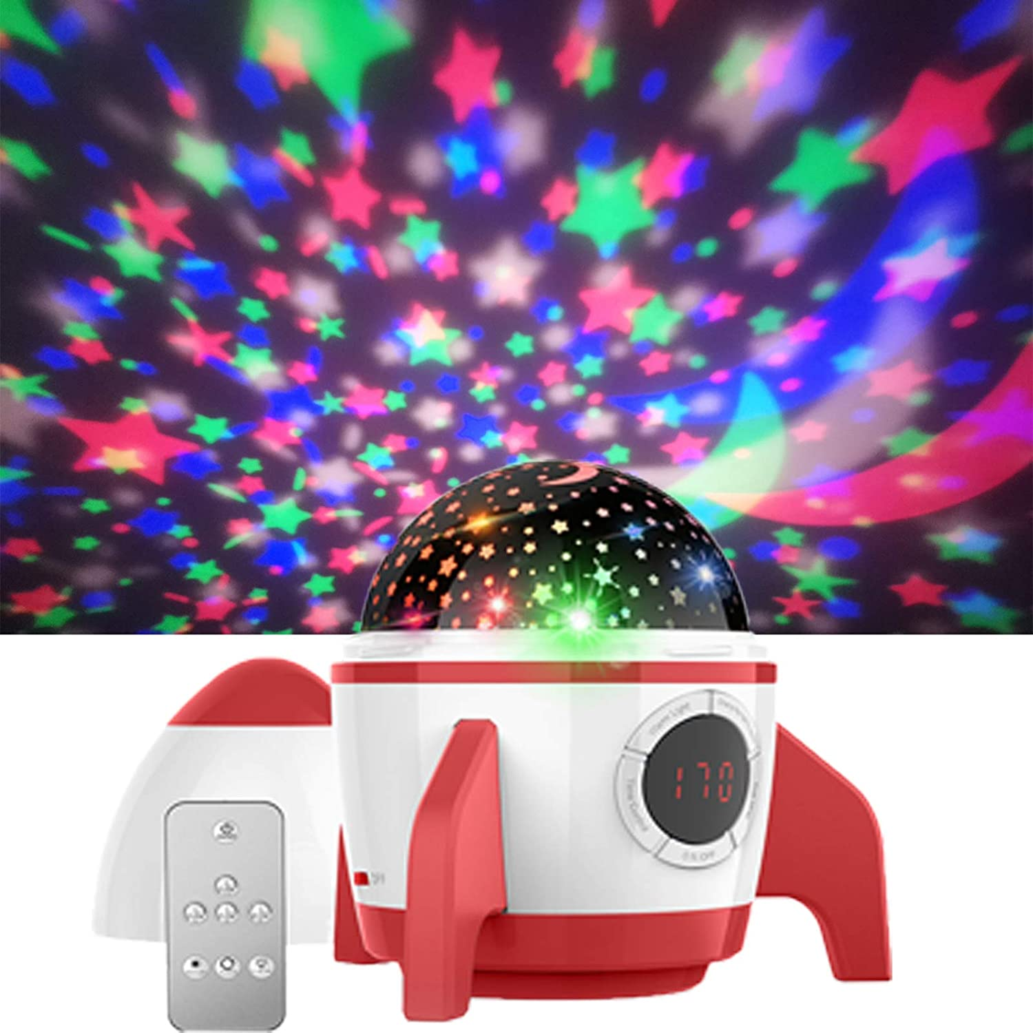Star Night Light Projector Kids, Night Sky Projector Led Projector Lights Kids Star Projector Ceiling Led Light Bedroom Projector Gifts for 1-12 Years Old Boys and Girls Gifts for Christmas(Red)