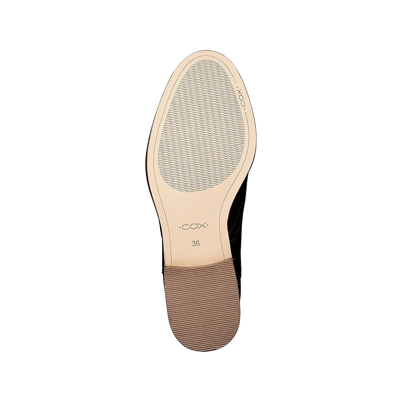 Cox Cox Cox Damen Chelsea Stiefel - Klassische Stiefelette - Stiefelies - Glattleder - Chelsea Stiefelette - mit Lochdesign - Ankle Stiefel - Profilsohle 7d4b47