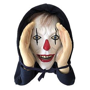 Creepy Giggle Clown Peeper Prop