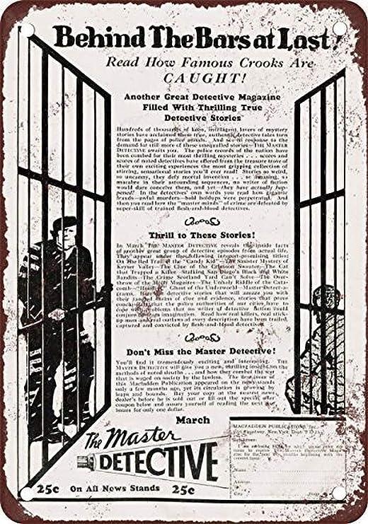 Toddrick 1930 Become a Master Detective Cartel de hojalata ...