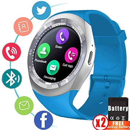 Smart Watch Fitness Tracker for Men Women Bluetooth Bussiness Smartwatch Touch Screen Wrist Watch with SIM Card Slot Alarm Support ...