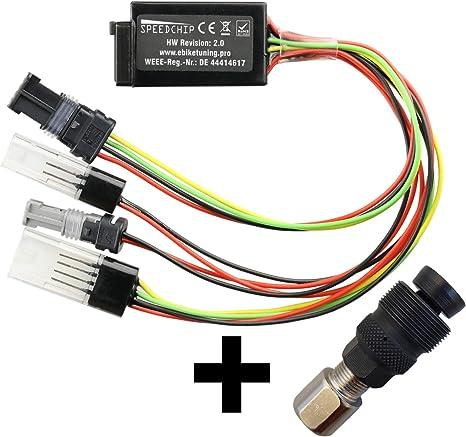 SpeedChip V2 - Módulo de tuning para bicicleta eléctrica, incluye extractor de manivela para todos los motores Bosch (Active Performance CX Classic) configurable a través de USB en el ordenador: Amazon.es: Electrónica