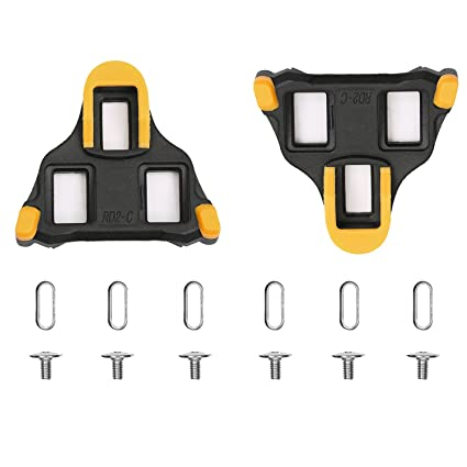 9fcbfe648fee Image Unavailable. Image not available for. Color: ColorGo Road Bike Cleats  6 Degree Float Self-locking Cycling Pedal Cleat For Shimano SH