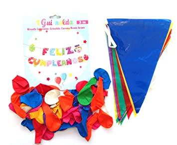 Guirnalda Feliz cumpleaños,Bandera Fiesta triángulo ...