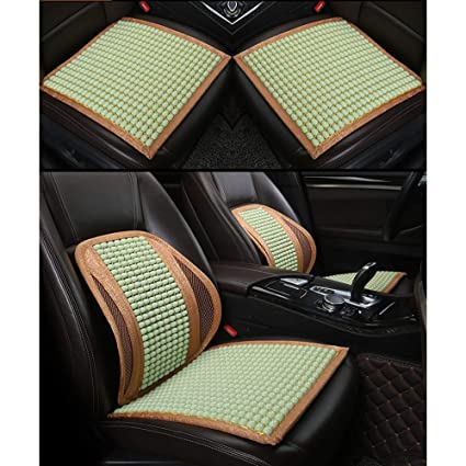 Cojín de madera con cuentas para asiento delantero de coche ...